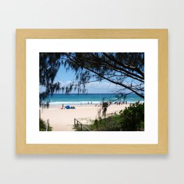 Beach scene Burleigh Heads Queensland Australia Framed Art Print