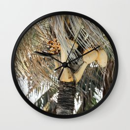 Yellow coconuts Wall Clock