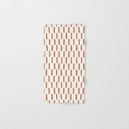 block print dash - terra cotta Hand & Bath Towel