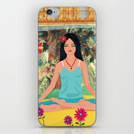 Yoga in the Forest iPhone Skin
