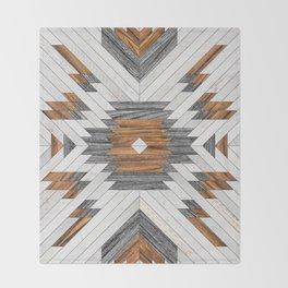 Urban Tribal Pattern 8 - Aztec - Wood Throw Blanket