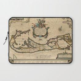 Map of Bermuda 1662 Laptop Sleeve