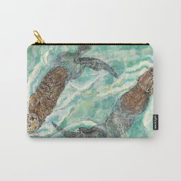 Two Otters Carry-All Pouch