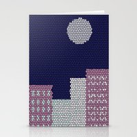 buildings Stationery Cards featuring Buildings by Marie Libot