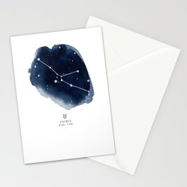 Zodiac Star Constellation - Taurus Stationery Cards