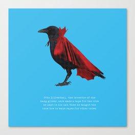 Lilienthal's Crow Canvas Print