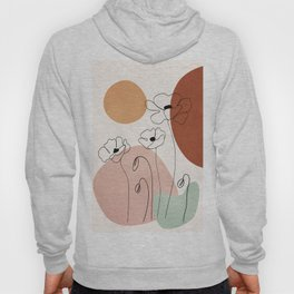 Minimal Abstract Flowers 05 Hoody