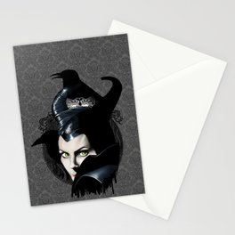 Maleficient and the crows Stationery Cards