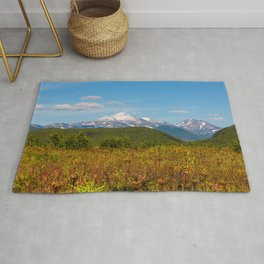 Fall and volcanoes Rug