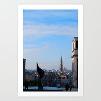 brussels Art Prints featuring Brussels by Bethany O'Meara