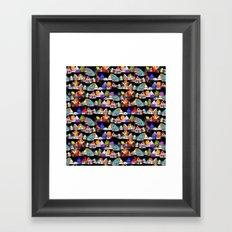 all my little houses Framed Art Print