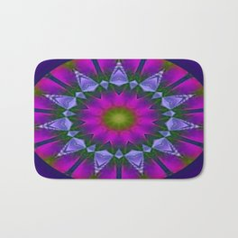 Abstract metallic flower Bath Mat