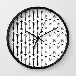 Black Arrow Wall Clock