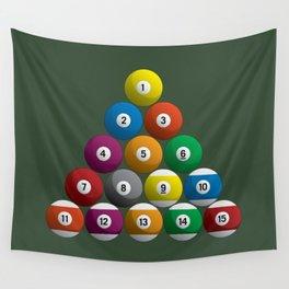 Billiard Pool Balls Wall Tapestry
