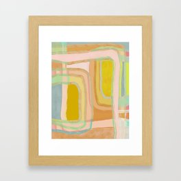 Shapes and Layers no.28 - Modern Squares and Stripes Framed Art Print