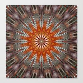 Orangga Mandala Flower 02 Canvas Print