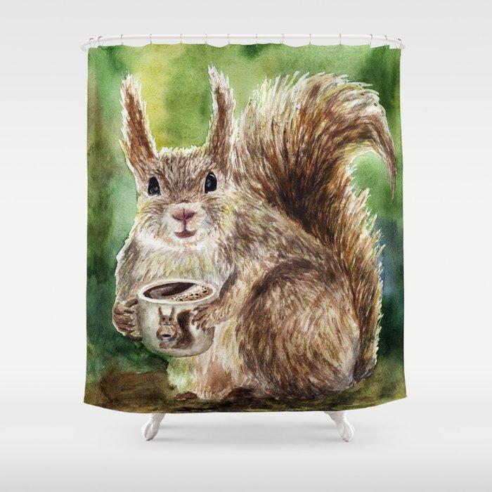 Squirrel Shower Curtain By Annashell
