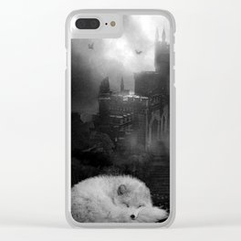 BEAUTY LIES OUTSIDE THE CASTLE WALLS Clear iPhone Case