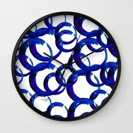 Enso Of Zen No. 21 by Kathy Morton Stanion Wall Clock