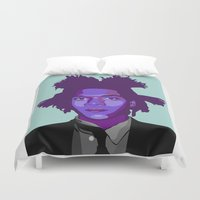 basquiat Duvet Covers featuring Basquiat by Grace Teaney Art