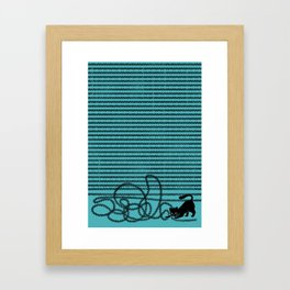 Unravel (in Blue) Framed Art Print
