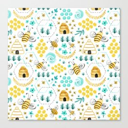 Busy Bees Canvas Print