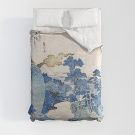 Mount fuji japon from Utagawa Kuniyoshi Comforters