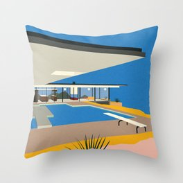 The Stahl House Throw Pillow