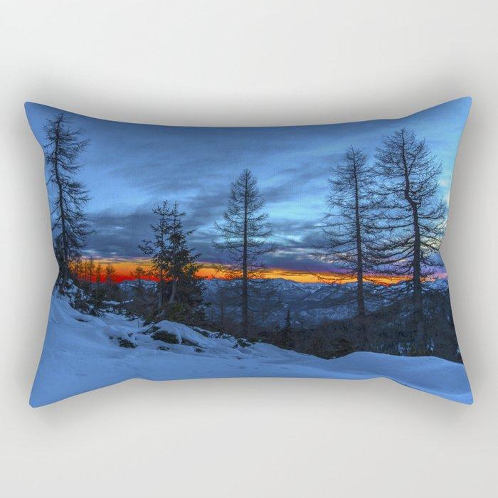 Warm Streak 1 Rectangular Pillow