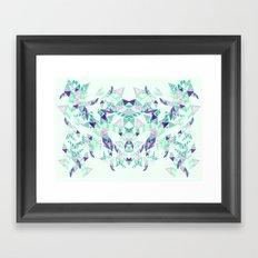 Kaleidoscopic print illustration  Framed Art Print