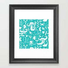 Under The Sea Aqua Framed Art Print