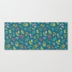 Ditsy Flowers in teal Canvas Print