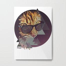 Space Kitten Metal Print