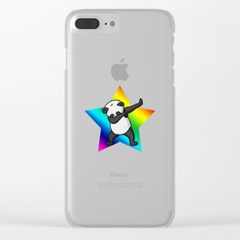 Panda dabbing Clear iPhone Case