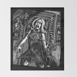 House of Zombies Throw Blanket