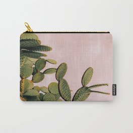 Cactus on Pink Sky Carry-All Pouch