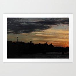 #ParisPostcards || Bonne nuit Art Print