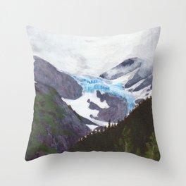 Portage Glacier Midsummer Throw Pillow