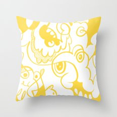 Doodle of the day – inverted version Throw Pillow