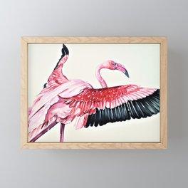 Fly Flamingo Framed Mini Art Print