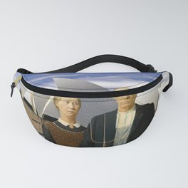 American Gothic Farmers Visit Opera House Sydney Fanny Pack