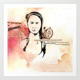 Miss Caltex Art Print
