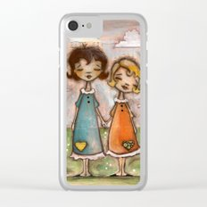 A Childhood Shared - Sister Art Clear iPhone Case