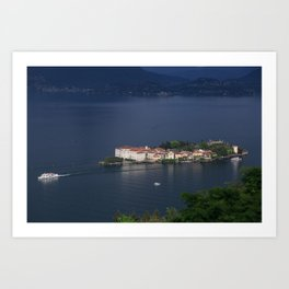 Busy Day On Lake Maggiore Art Print