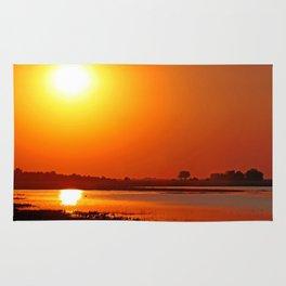 Evening at Chobe river, Botswana Rug