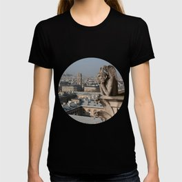 Gargoyle staring at Paris T-shirt