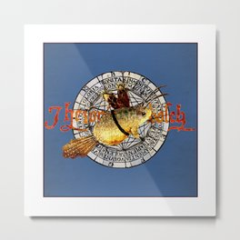 Bosch Winged Toad Metal Print