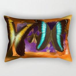 Butterfly Light and Shadow Rectangular Pillow