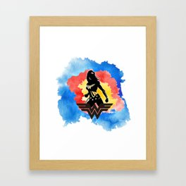 Women Hero Framed Art Print