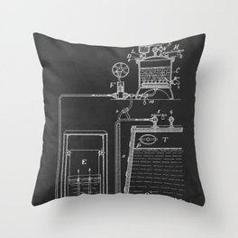 Process Of Making Alcohol Patent 1912 Throw Pillow